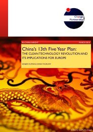 China's 13th Five Year Plan