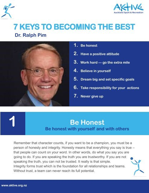 Seven Keys to Becoming the Best