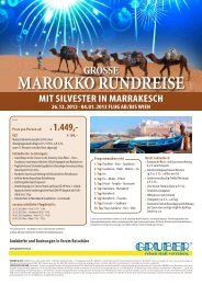 mit SilveSter iN marrakeSch 26. 12. 2012 - Komet-Reisen