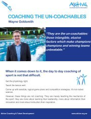 Coaching the Uncoachables
