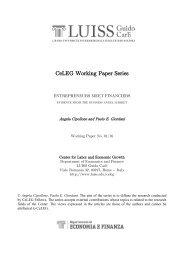 CeLEG Working Paper Series