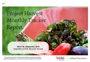 Wave 40 September 2016 Vegetable tracked Brussels Sprouts