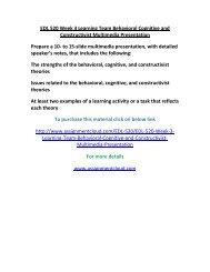 UOP EDL 520 Week 3 Learning Team Behavioral Cognitive and Constructivist Multimedia Presentation