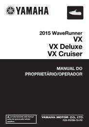Yamaha VX Cruiser - 2015 - Manuale d'Istruzioni Português
