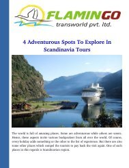 4 Adventurous Spots To Explore In Scandinavia Tours