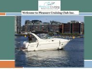 Welcome to Pleasure Cruising Club Inc.