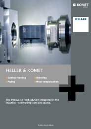 The transverse feed solution integrated in the machine - Komet Group