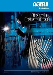 Cigweld Electrodes, Rods and Fluxes