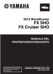 Yamaha FX SHO - 2012 - Manuale d'Istruzioni Italiano