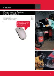 Lincoln Electric Fume Extraction Catalogue