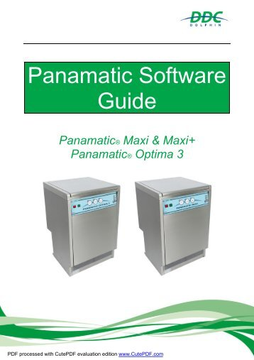 Software Guide Maxi, Maxi+, Optima 3 V1.1