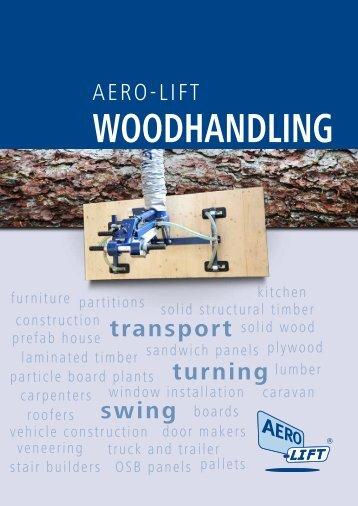 AERO-LIFT Woodhandling vacuum lifting devices