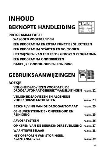 KitchenAid NEVADA C - Dryer - NEVADA C - Dryer NL (857586712090) Istruzioni per l'Uso