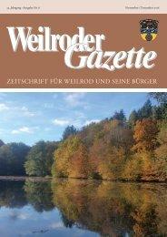 Weilroder Gazette November/Dezember 2016