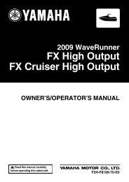 Yamaha FX HO Cruiser - 2009 - Manuale d'Istruzioni English