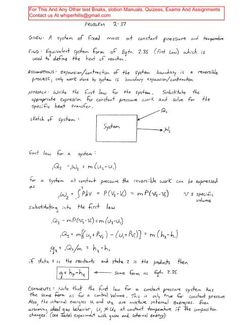Solution manual an introduction to combustion: concepts and.