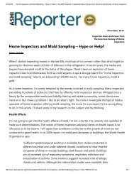 Home Inspectors and Mold Sampling – Hype or Help?