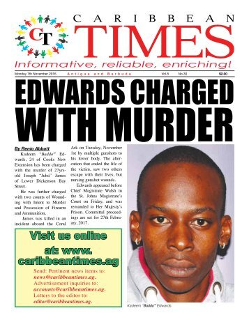 Caribbean Times 30th Issue - Monday 7th November 2016