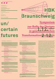 Programm un/certain futures Symposium