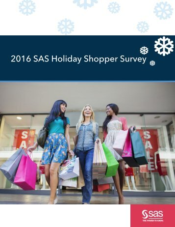 2016 SAS Holiday Shopper Survey