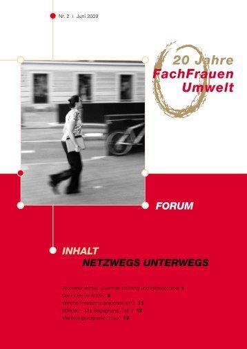 Jubiläumsausgabe 2/2009 - FachFrauen Umwelt
