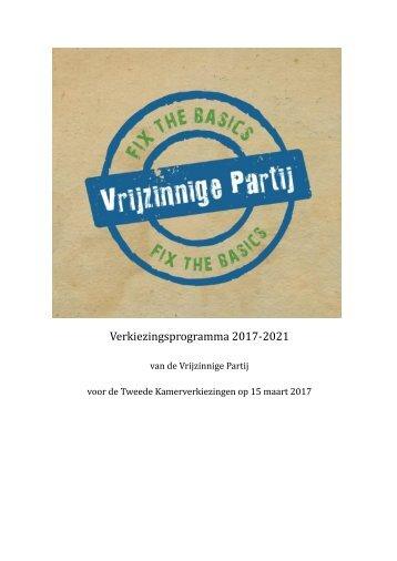 Verkiezingsprogramma 2017-2021