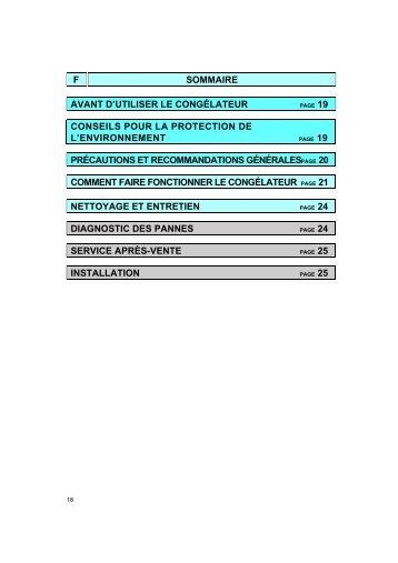 KitchenAid GKMN 2744/0 FH - Freezer - GKMN 2744/0 FH - Freezer FR (855261901060) Istruzioni per l'Uso