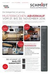 Musterküchen Abverkauf  SCHMIDT Küchen Koblenz
