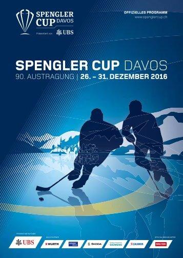 SPENGLER CUP PROGRAMM 2016