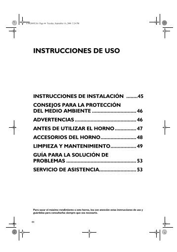 KitchenAid OVN 908 W - Oven - OVN 908 W - Oven ES (857923201010) Istruzioni per l'Uso