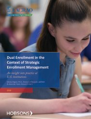 Dual Enrollment in the Context of Strategic Enrollment Management