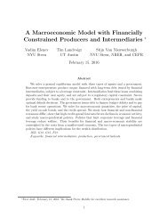 A Macroeconomic Model with Financially Constrained Producers and Intermediaries