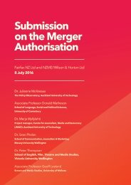Submission on the Merger Authorisation