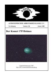 Der Komet 17P/Holmes - Sternwarte Calden Kassel