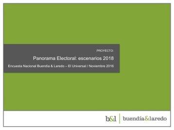 Panorama Electoral escenarios 2018