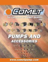 Comet catalog 07 cover A - Comet Industrial Pumps