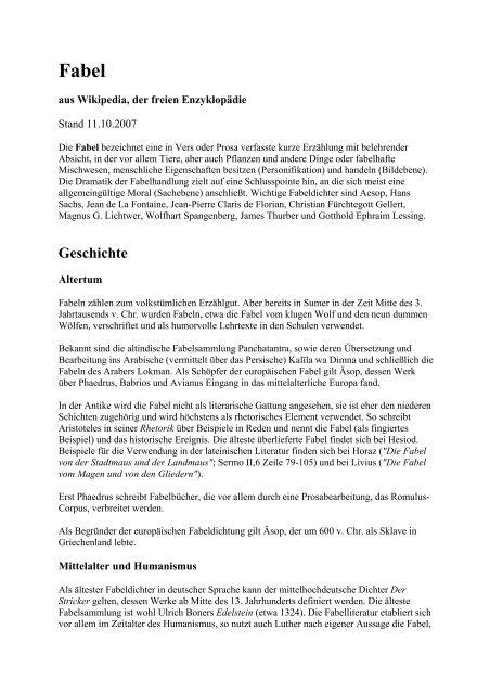 Jean De La Fontaines Fabeln Pdf Kostenfreier Download 1