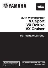 Yamaha VX Cruiser - 2014 - Manuale d'Istruzioni Deutsch