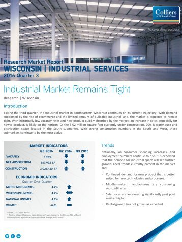 Industrial Market Remains Tight