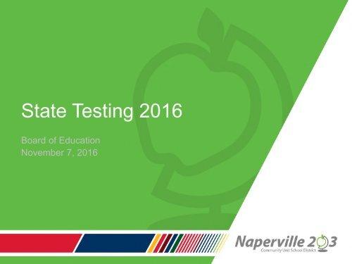 State Testing 2016