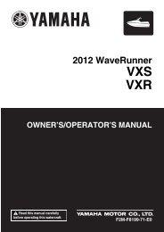 Yamaha VXS - 2012 - Manuale d'Istruzioni English