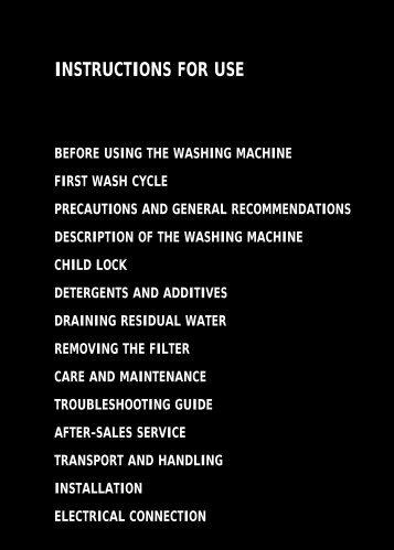 KitchenAid SCW1012UG - Washing machine - SCW1012UG - Washing machine EN (857007815750) Istruzioni per l'Uso