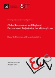 Global Investments and Regional Development Trajectories the Missing Links
