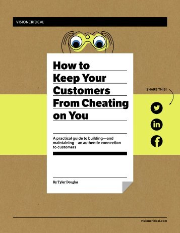 How to Keep Your Customers From Cheating on You