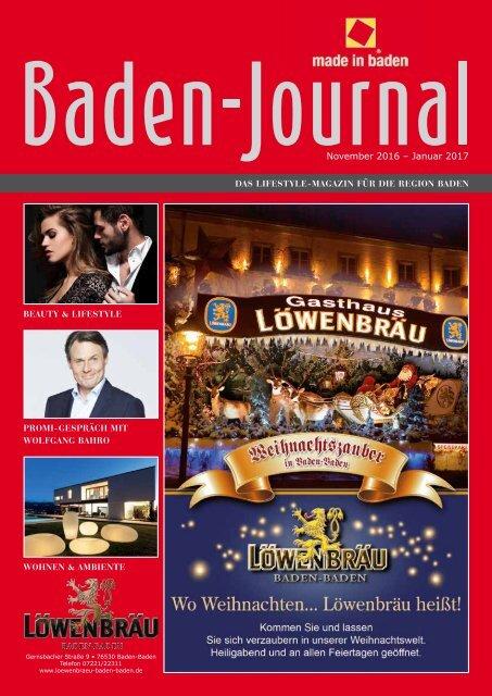 Baden Journal November - Januar 2017