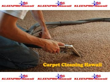 Carpet Cleaning Hawaii