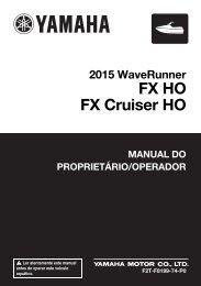 Yamaha FX HO Cruiser - 2015 - Manuale d'Istruzioni Português