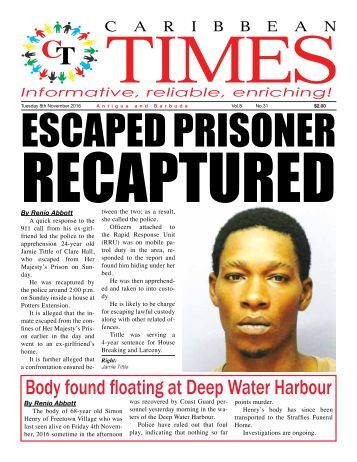 Caribbean Times 31st Issue - Tuesday 8th November 2016