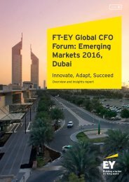 FT-EY Global CFO Forum Emerging Markets 2016 Dubai