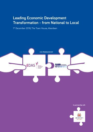 Leading Economic Development Transformation - from National to Local